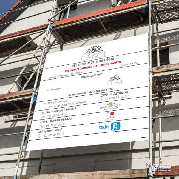 Panneau de chantier OPAC alvéolaire 10 mm
