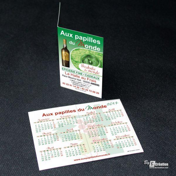 Carte calendrier Aux Papilles du Monde Amiens