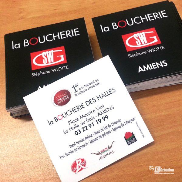 Carte commerciale Boucherie Wiotte Amiens