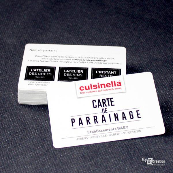 Carte de parrainage Cuisinella Amiens