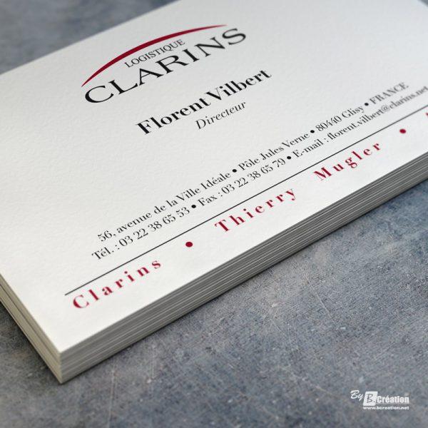 Carte de visite Clarins