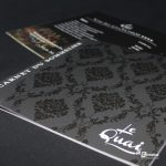 Brochure carte des vins restaurant Le Quai Amiens