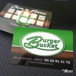 Carte de fidélité Restaurant Burger Bucket Amiens
