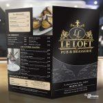 Brochure carte menu restaurant Le Loft Amiens