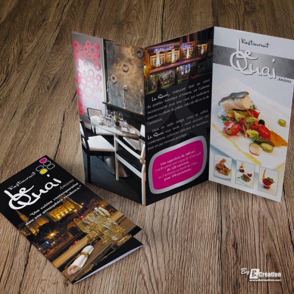 Dépliant restaurant Le Quai Amiens
