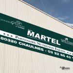 Panneau publicitaire Martel Chaulnes