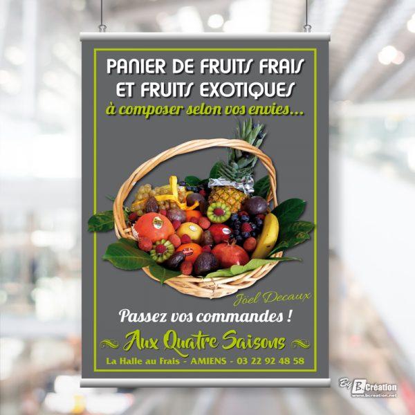 Affiche PVC Aux 4 Saisons Amiens