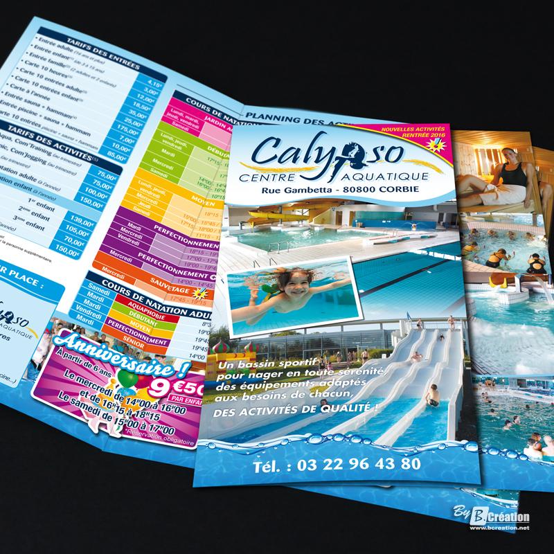 Imprimerie support de communication et publicitaires amiens for Club piscine flyer