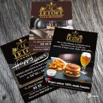 Flyers A6 restaurant Le Loft Amiens