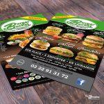 Flyer A5 Restaurant Burger Bucket Amiens