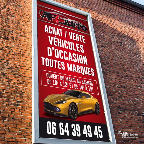 Panneau publicitaire AFR Auto