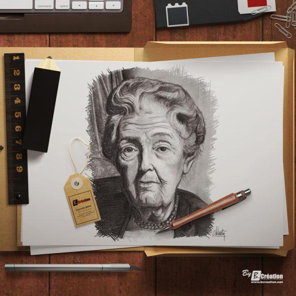 Illustration portrait au crayon personnel