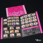 Carte menu restaurant l'Anatolie Amiens