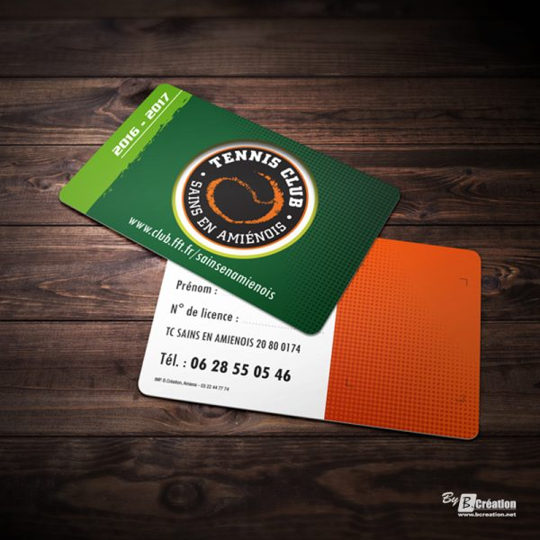 Carte PVC adhérent TC Sains
