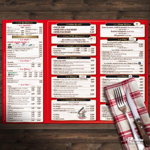 Set de table Restaurant Le Refuge du Kimbo Amiens