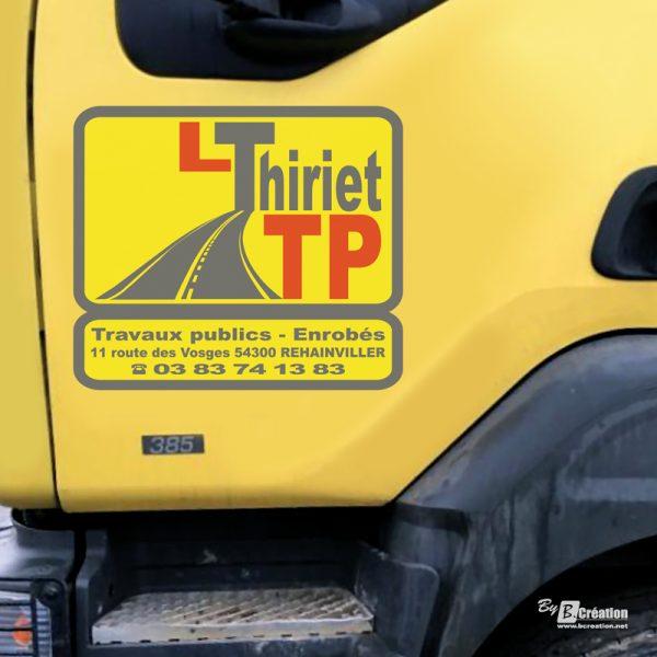 Sticker véhicule L THIRIET TP